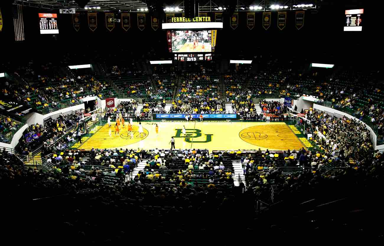 WACO, TX - JANUARY 11: Ferrell Center during a game between the Baylor Bears and the Oklahoma State Cowgirls on January 11, 2012 in Waco, Texas. The Baylor Bears defeated the Oklahoma State Cowgirls 71-44. (Photo by Sarah Glenn/Getty Images)