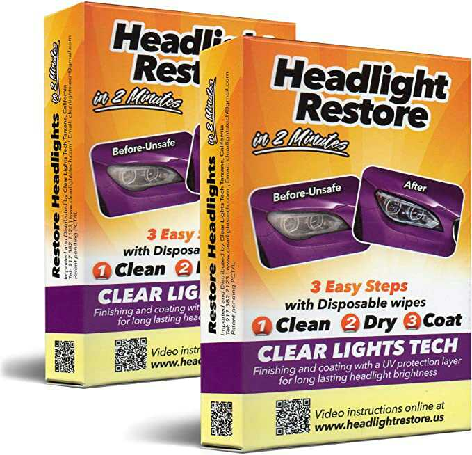 headlight restoration kit by clear lights tech CLT