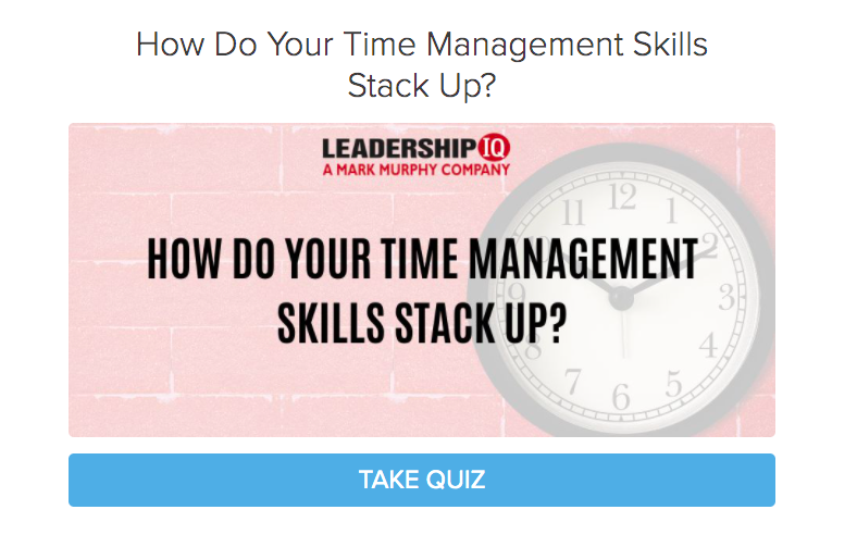 how do your time management skills stack up quiz