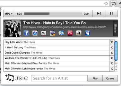 +Music para Chrome