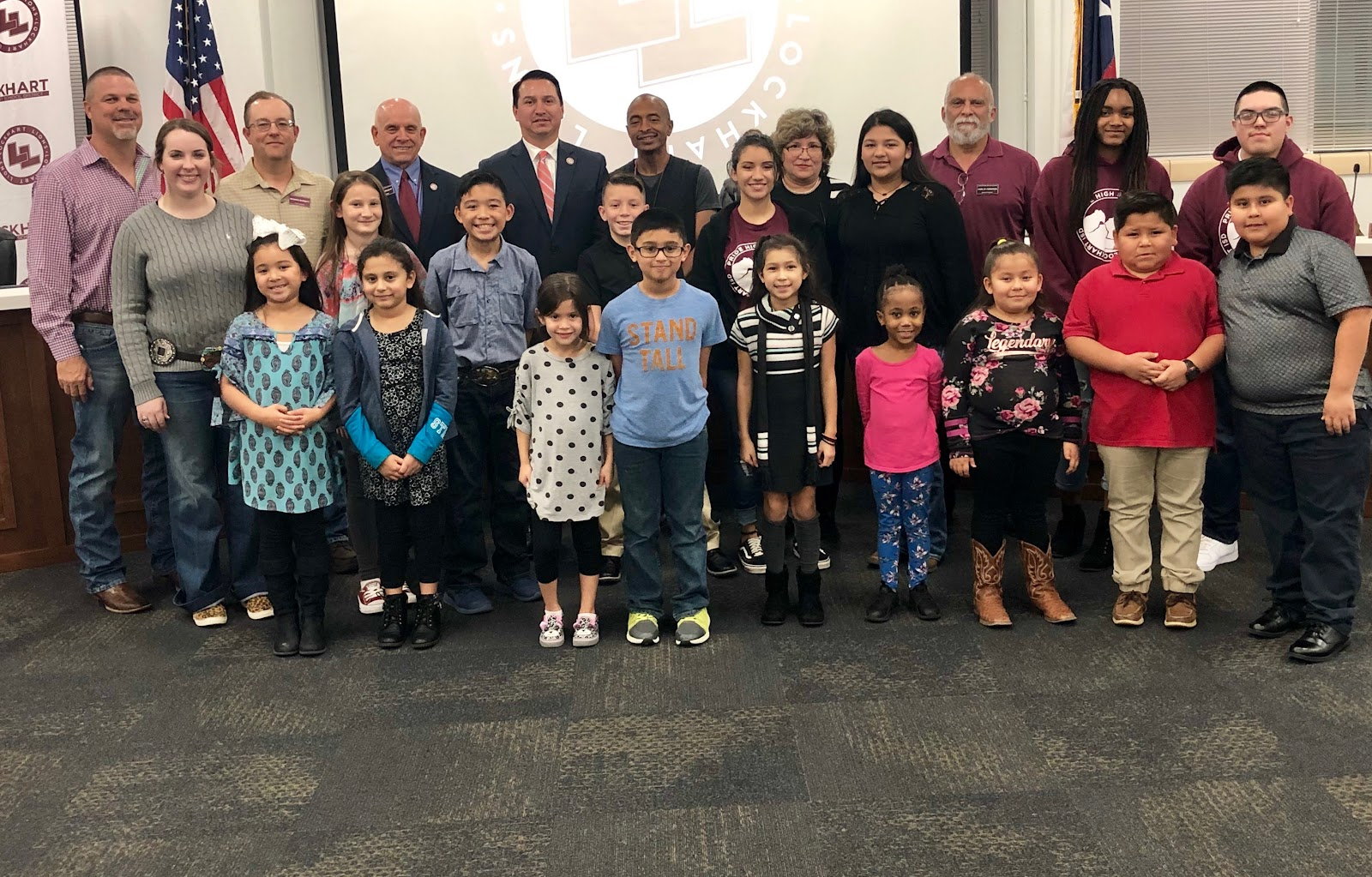 LISD Board honored by LISD students