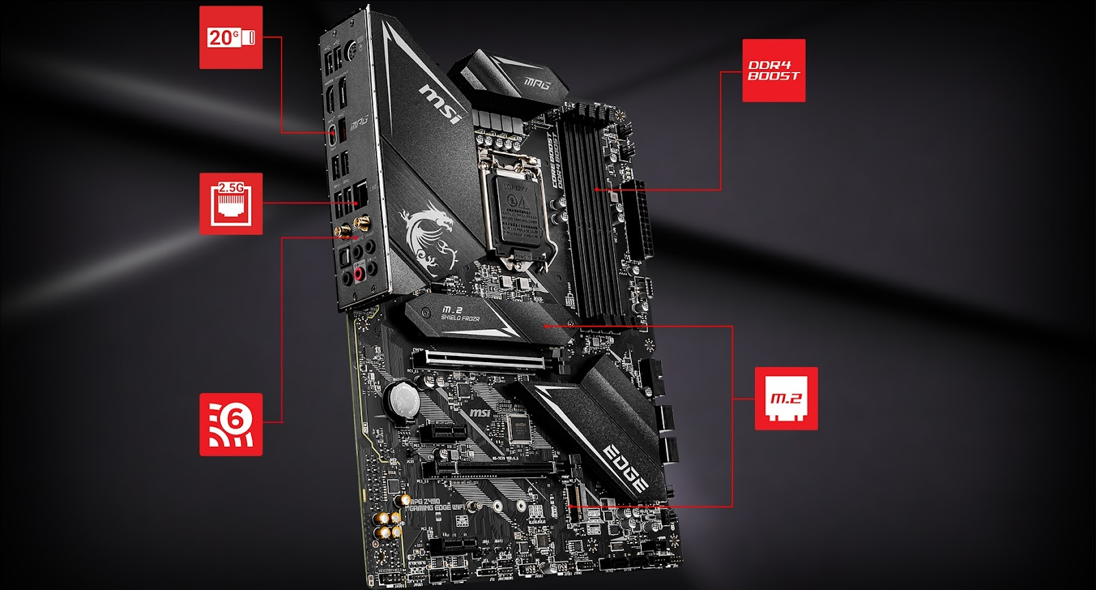 Creator TRX40 motherboard and a video card