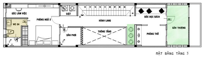 nhà ống đẹp 4.5x20m 3 tầng 3 phòng ngủ
