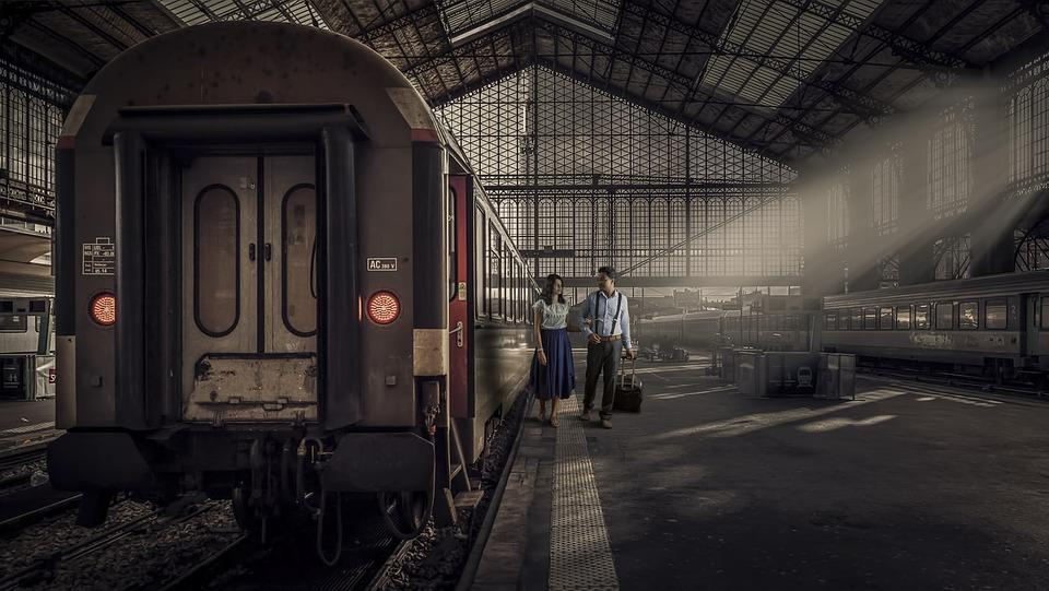 Train, Transportation System, Railway, Train Station