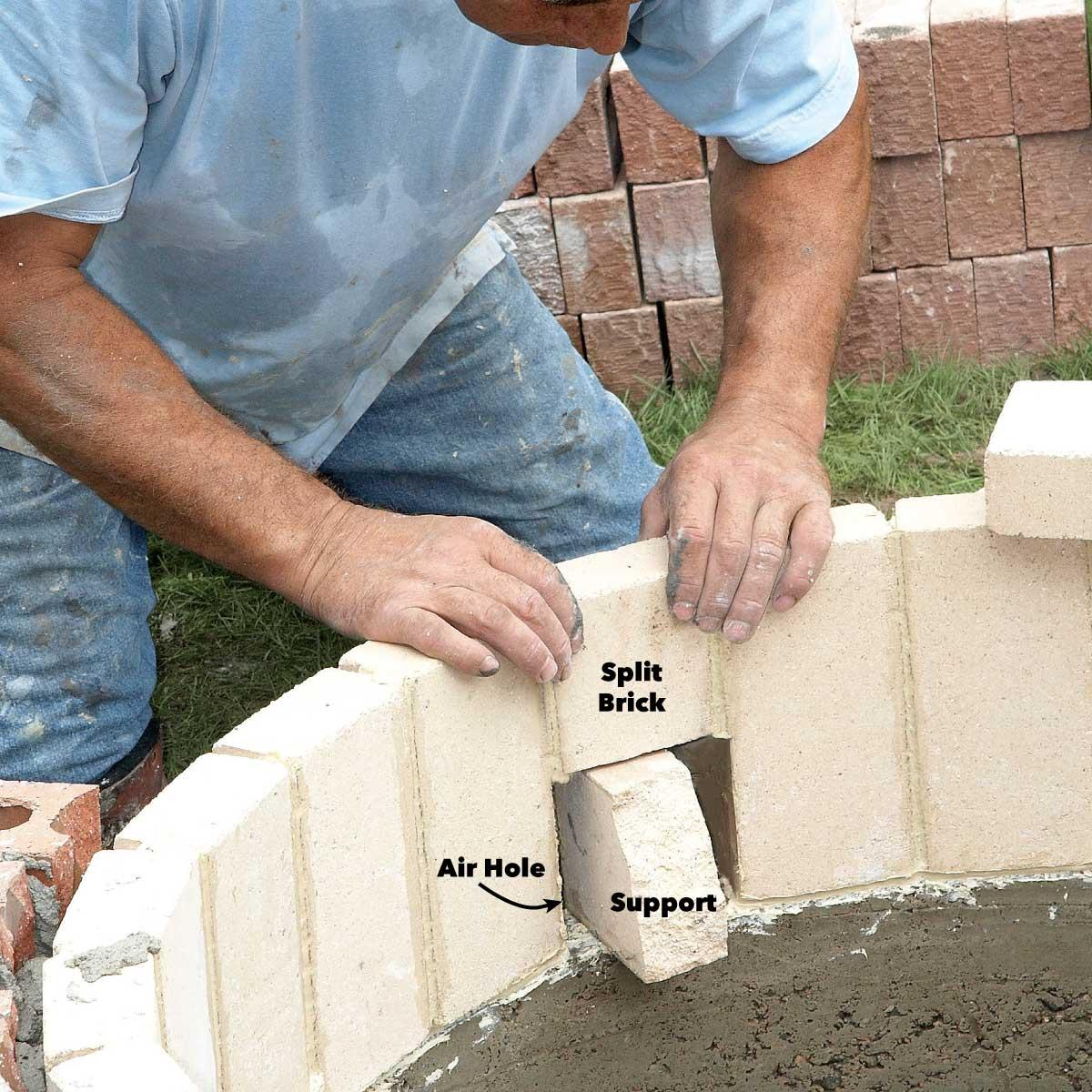 create air holes in fire pit