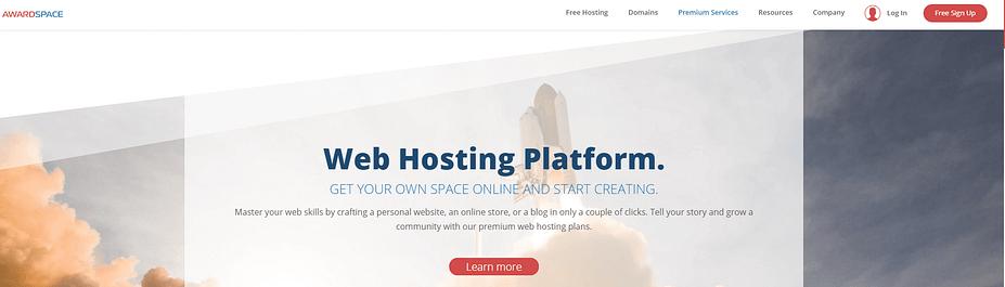 Nền tảng lưu trữ web AwardSpace.