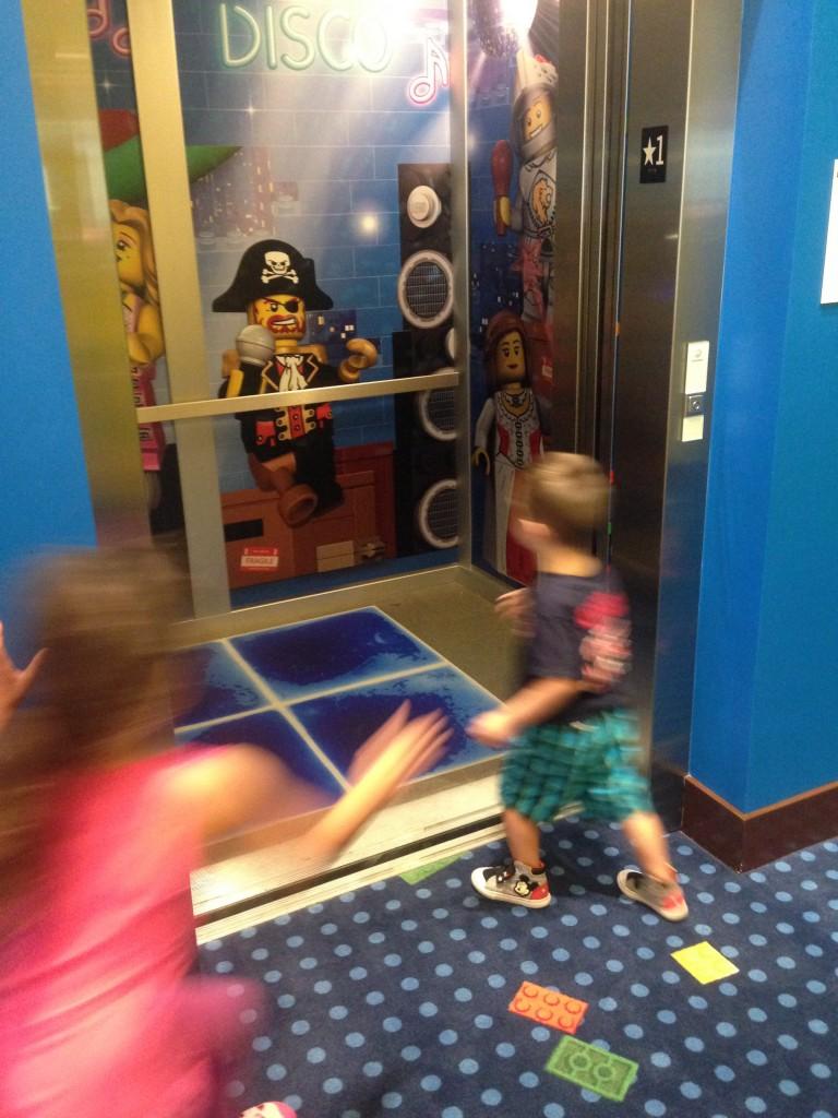 Legoland hotel elevator.
