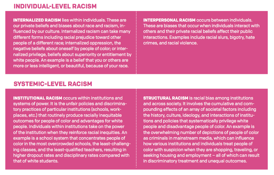 Individual and Systemic Level Racism.PNG