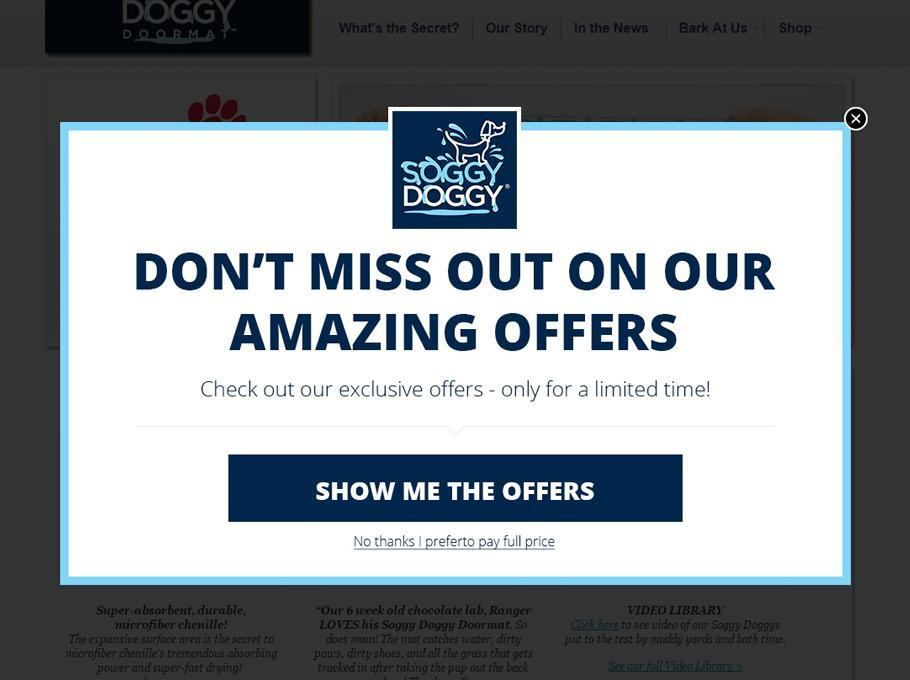 A simple branded popup that works like a charm -