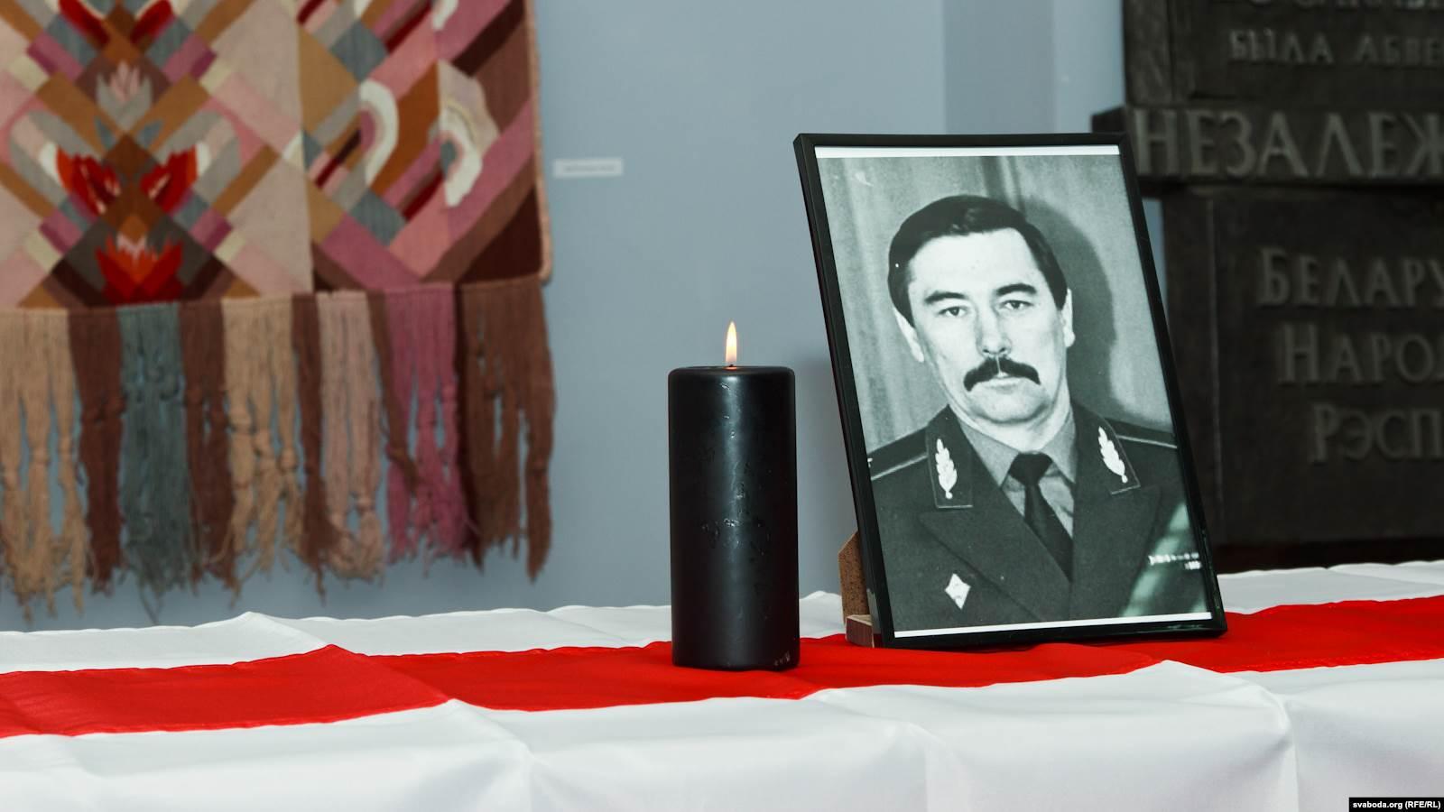 Фотография Юрия Захаренко на вечере его памяти. Фото: svaboda.org