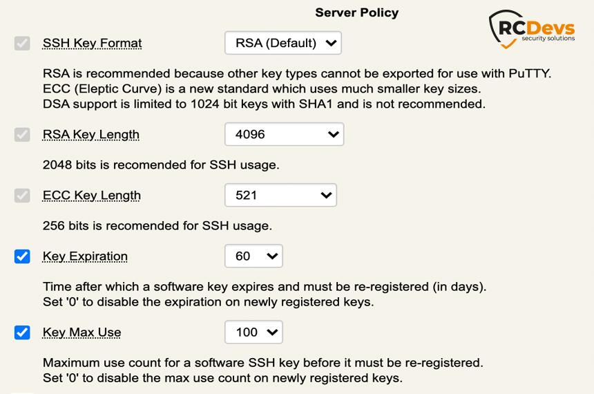Stratégie de serveur - Serveur SSH