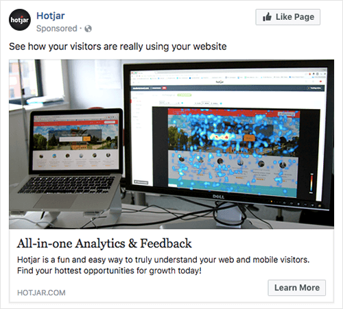 Hotjar Facebook Ad Screenshot