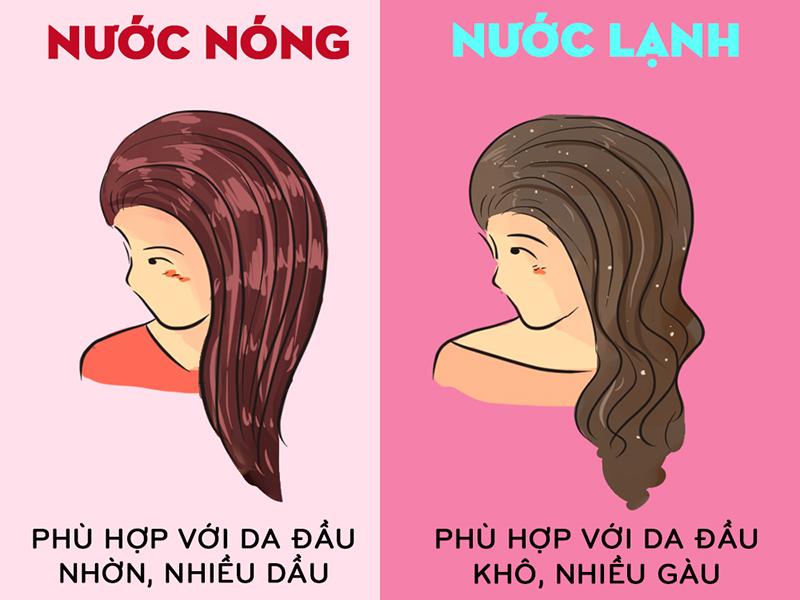 Tùy vào tình trạng da đầu để lựa chọn phương thức gội đầu phù hợp