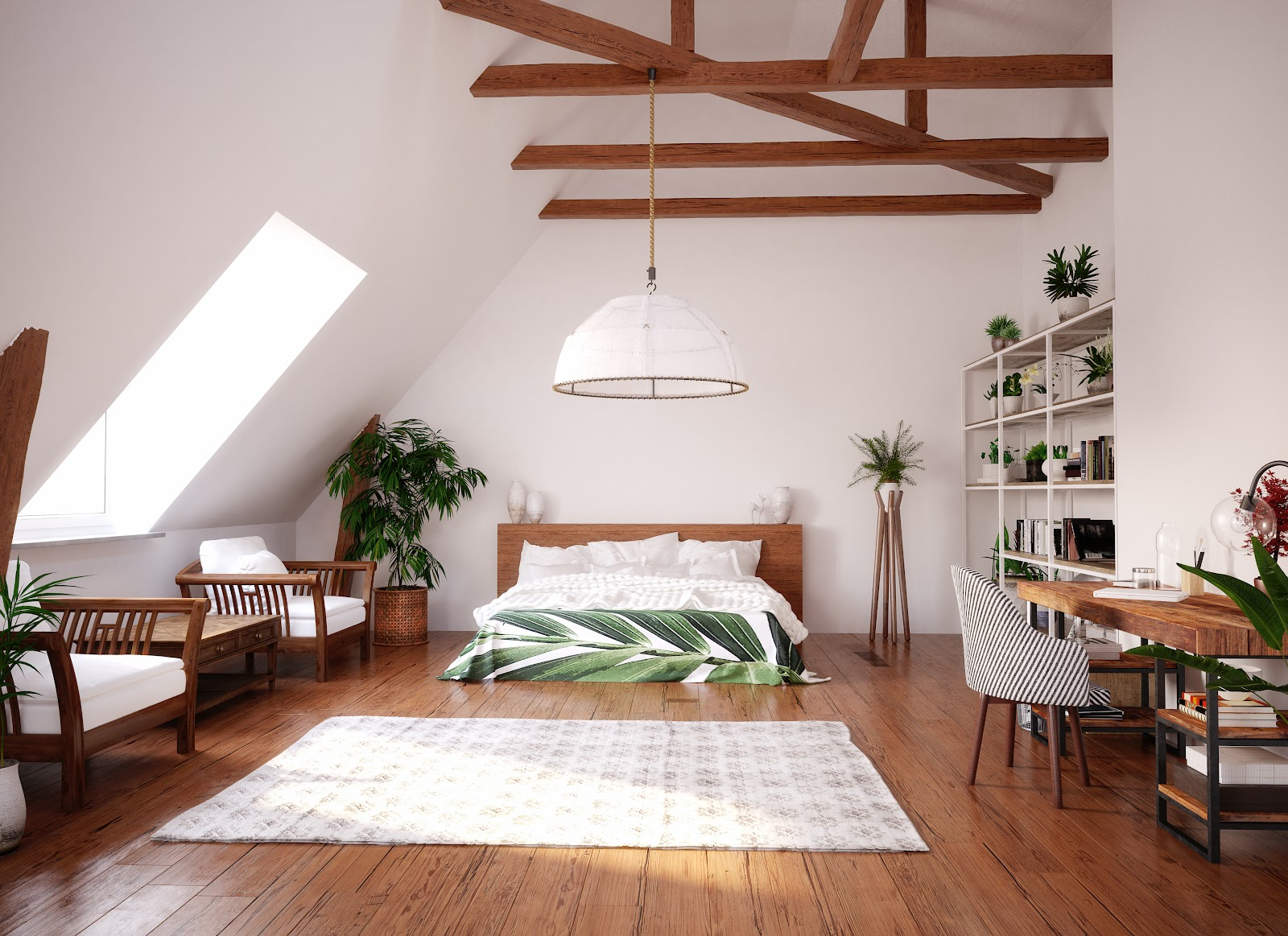 beautiful attic remodel