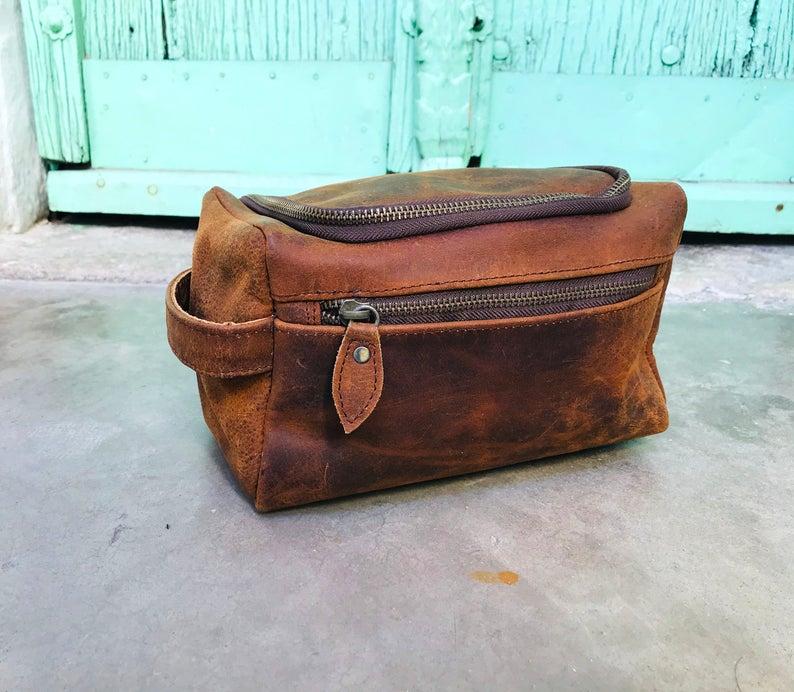 Personalized Leather Buffalo Bag