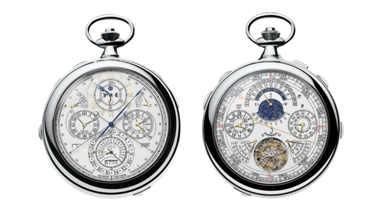 Photo of both sides of the Vacheron Constantin Ref. 57260 pocket watch
