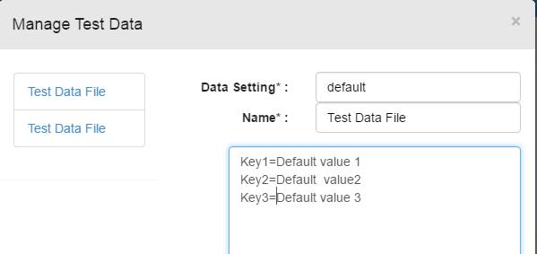 keys for default environment