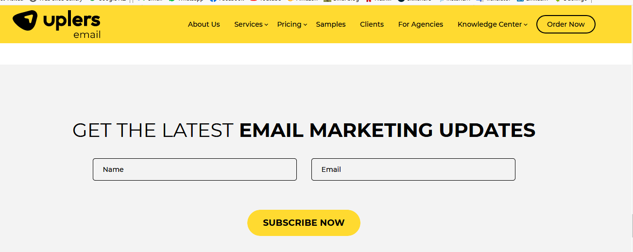 subscription via email