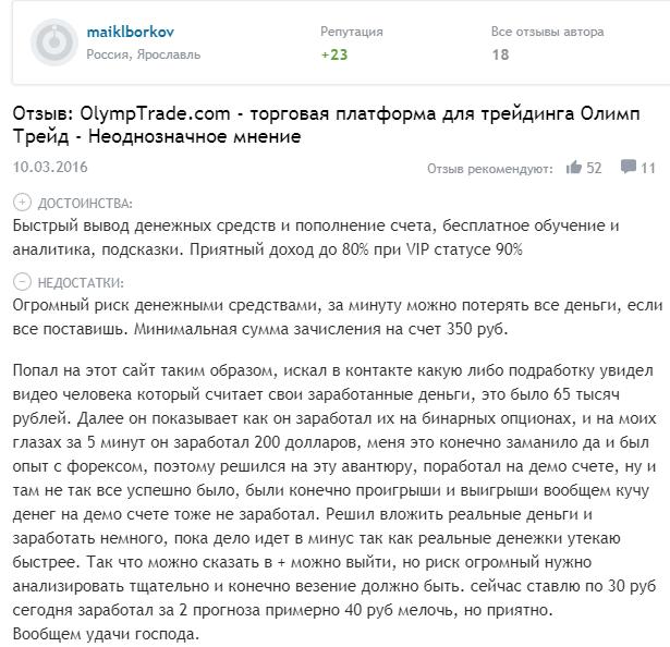 Детальный обзор Olymp Trade: торговые условия брокера и отзывы клиентов