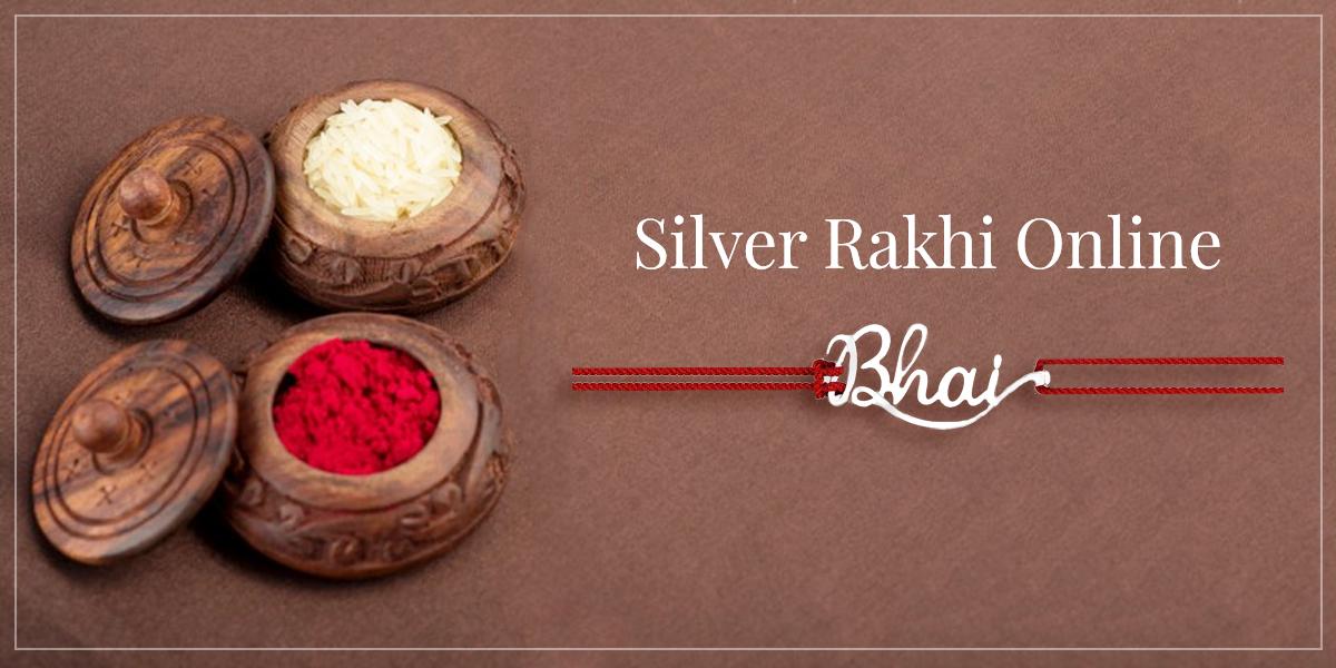 bhai silver rakhi online