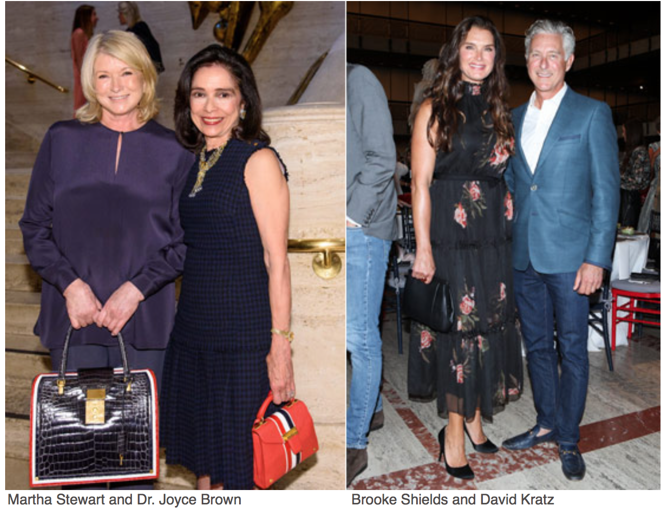 New York Fashion Week The kick-off to this week-long revelry of style and commerce is The Couture Council Luncheon and Award for the Artistry of Fashion.  Martha Steward Dr. Joyce Brown, Brooke shields, David Kratz