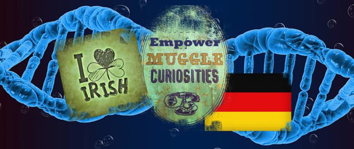 Irish logo, DNA logo, Muggles, German Flag