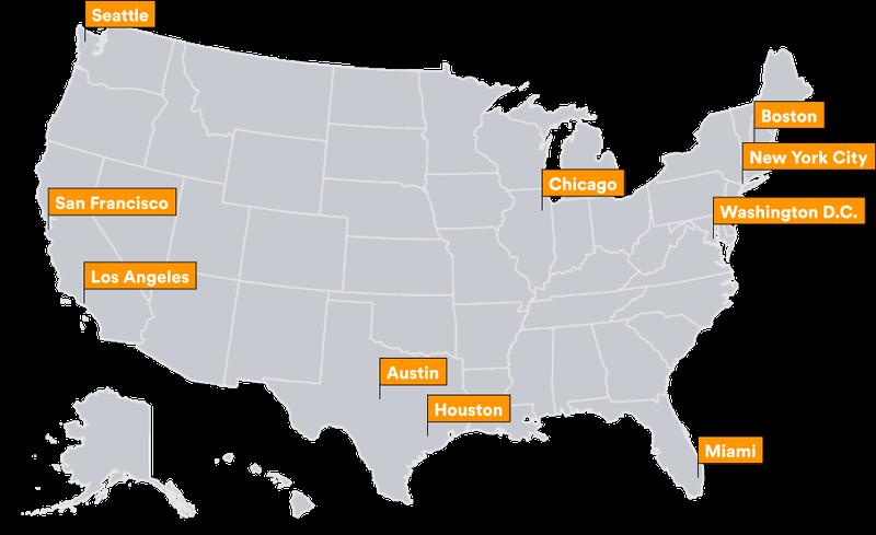 Cidades que vão participar da promoção