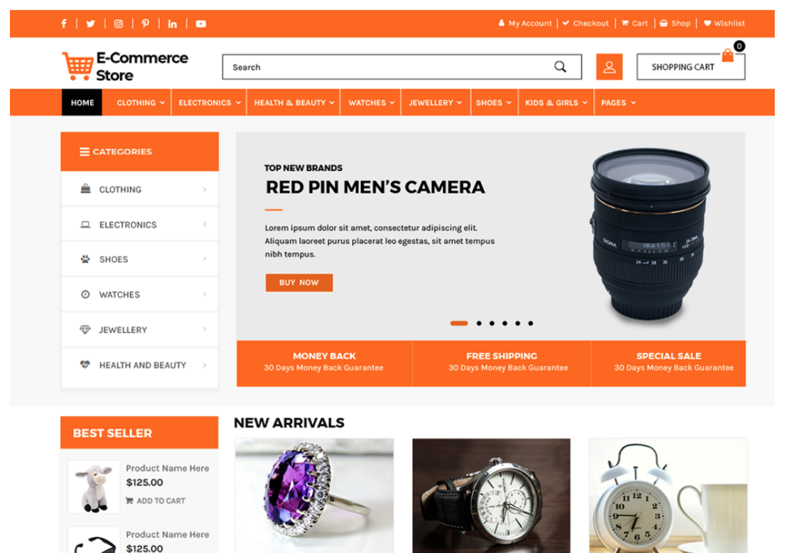 Screenshot from an ecommerce store with beautiful photos that sell.