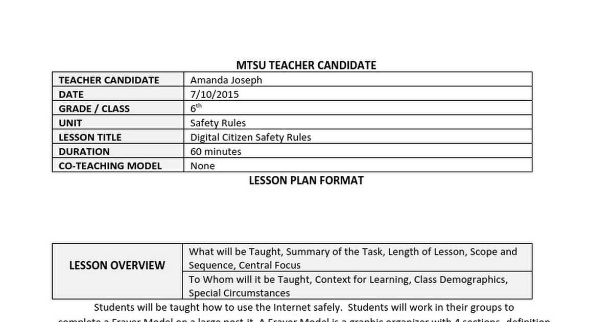 Mtsu Lesson Plan Templatecx Google Docs