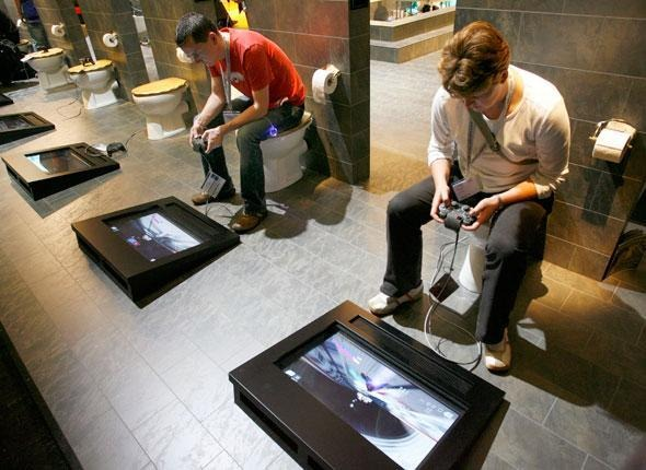 15 Odd Toilets and Other Bizarre Bathroom Fixtures -> Commode Tv But