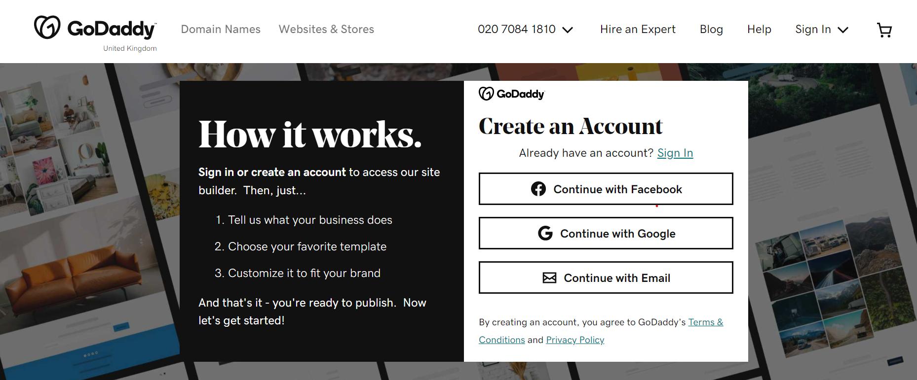 GoDaddy Website Builder in India