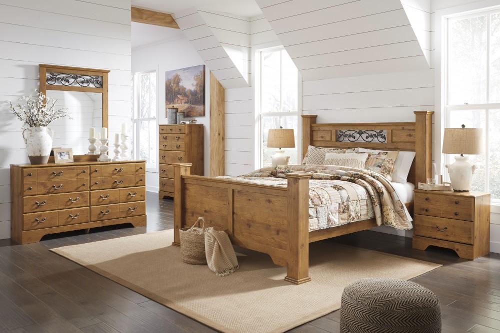Phòng ngủ chung cư với sự kết hợp phong cách Bắc Âu và rustic