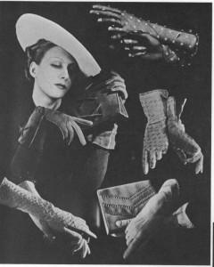 Nošení rukavic v roce 1935