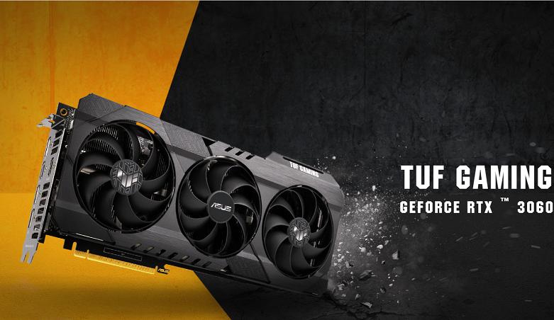 Card màn hình/ VGA ASUS TUF Gaming GeForce RTX 3060 OC 12G (TUF-RTX3060-O12G-GAMING) | Thiết kế đơn giản