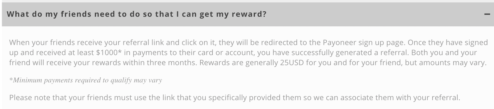 payoneer referral program faq