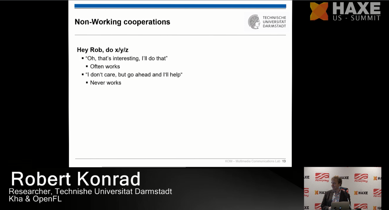 Non-working cooperations