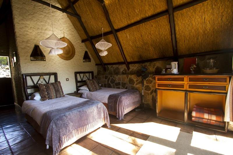 twin bedroom at Big Cave