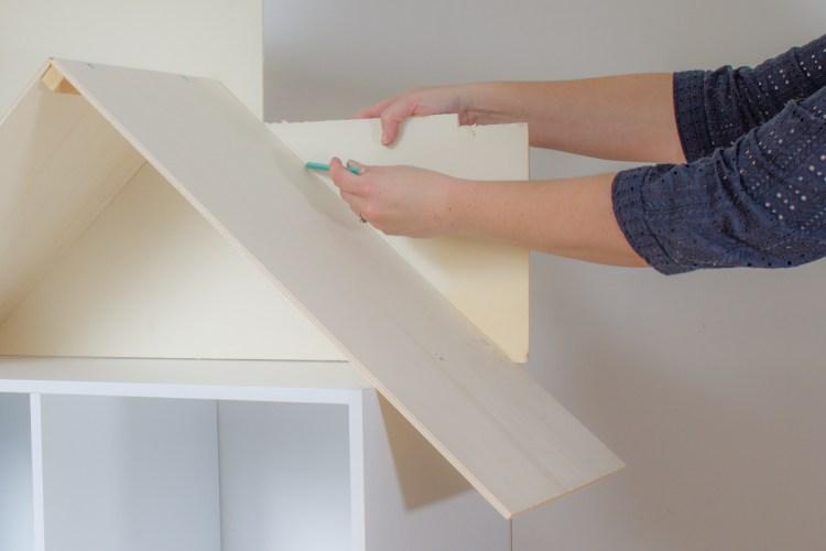 add a back to the roof on your bookcase