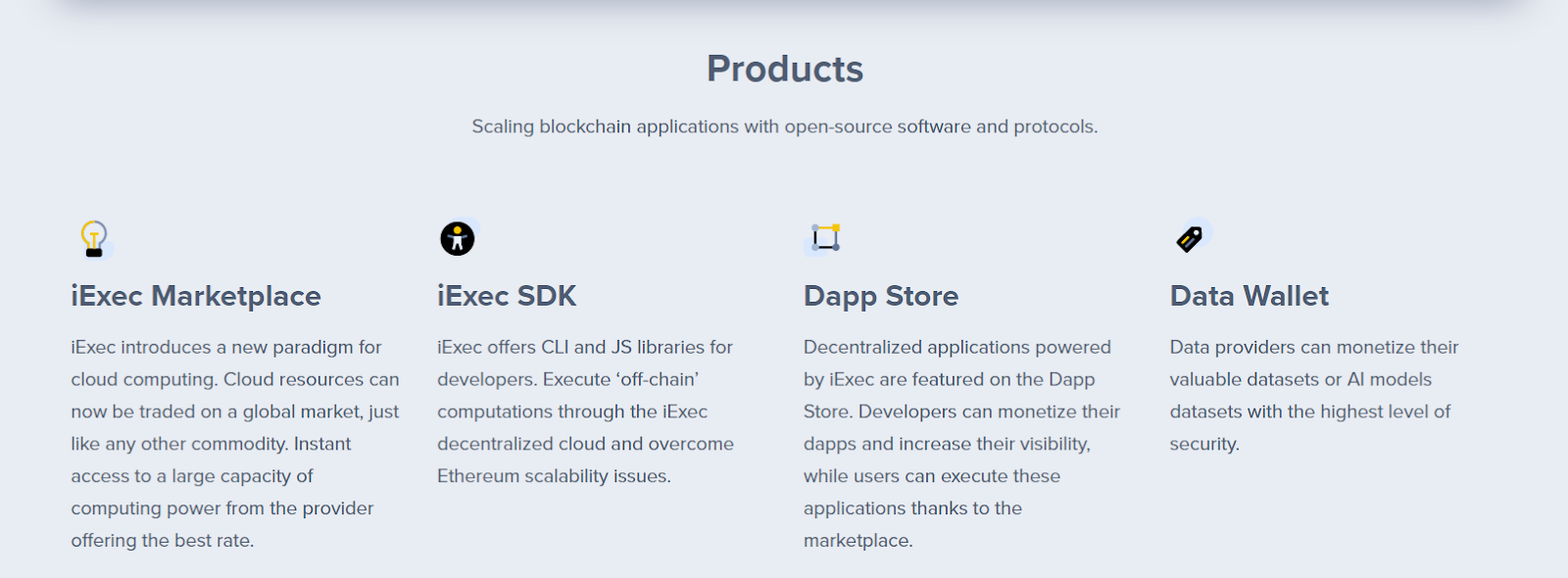 Scaling blockchain application with open-source software and protocols.