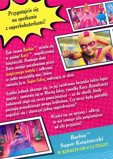 Tył ulotki filmu 'Barbie: Super Księżniczki'