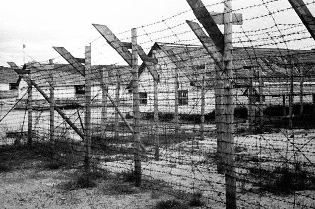 Финский концентрационный лагерь в городе Медвежьегорске. © / Дмитрий Козлов / РИА Новости
