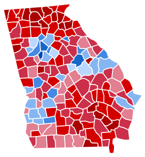 Georgia Presidential Election Results 2016.svg