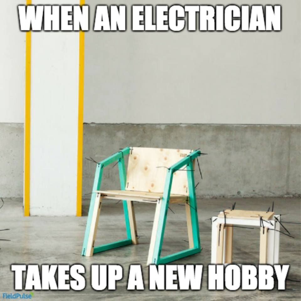 when an electrician takes up carpentry