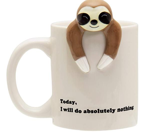 funny mug sloth gift ideas