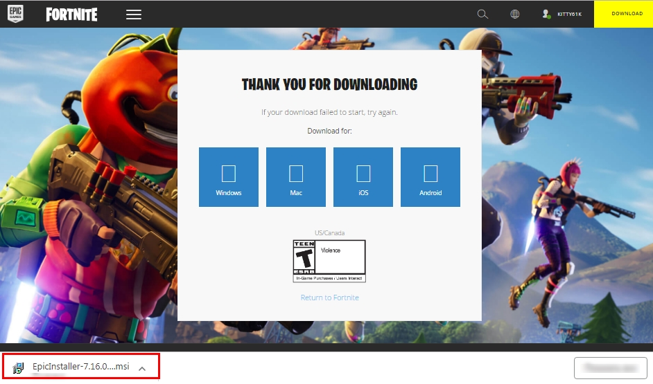 how to install fortnite on windows 7