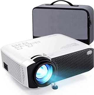 """Projector, APEMAN 4000 Lumen Mini Portable Projector, 1080P Supported 180"""" Display 50000 Hrs LED Video Projector, Compatib..."""