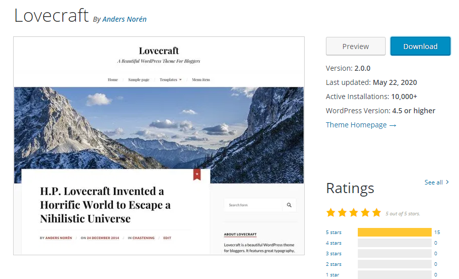 Lovecraft-responsive-theme