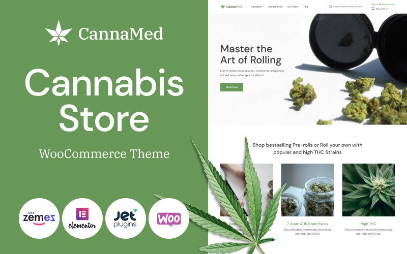 Fastest WooCommerce themes - CannaMed