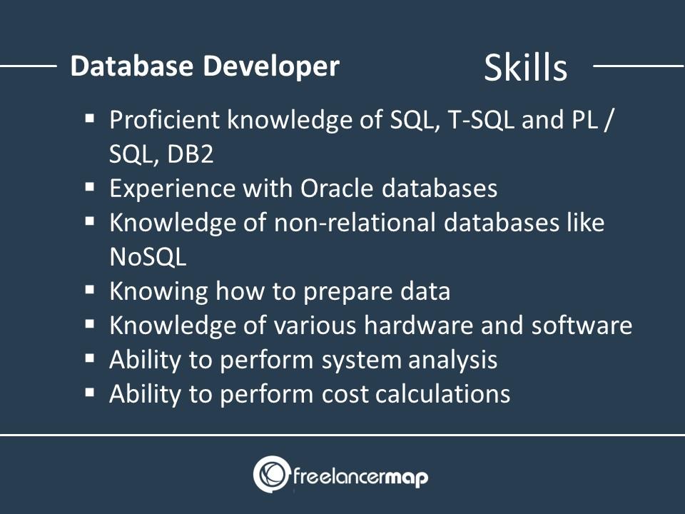 The skills of a database developer