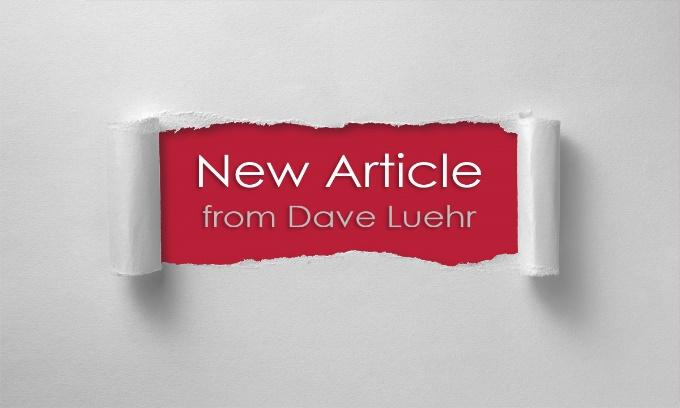 New Article from Dave